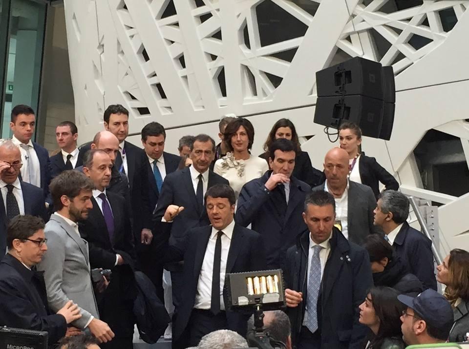 Den italienske regeringsleder Matteo Renzi, da EXPO blev åbnet den 1. maj