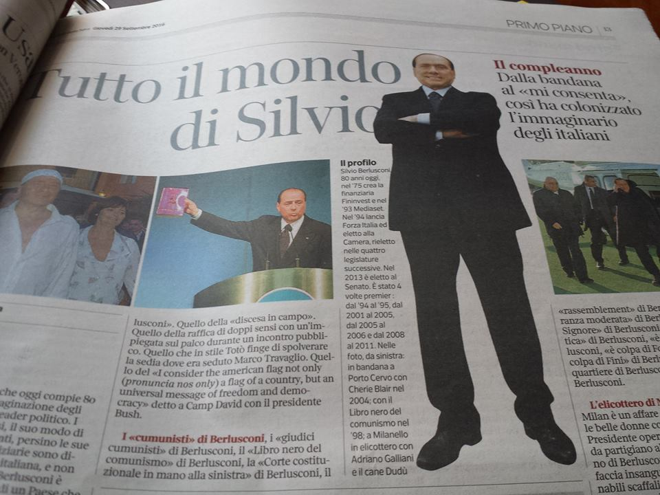 Printscreen fra dagbladet Corriere della Sera 29. september 2016