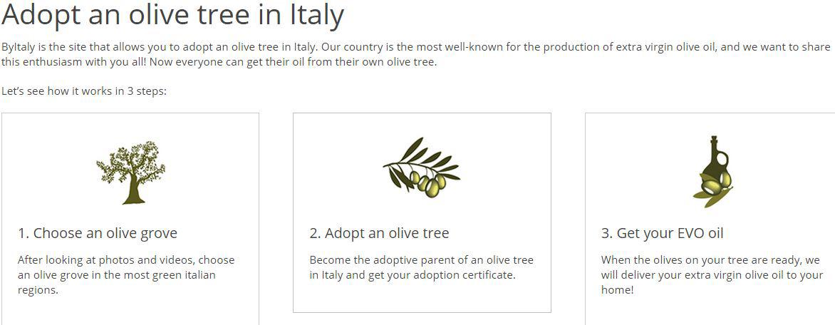 byitaly adopter et oliventræ