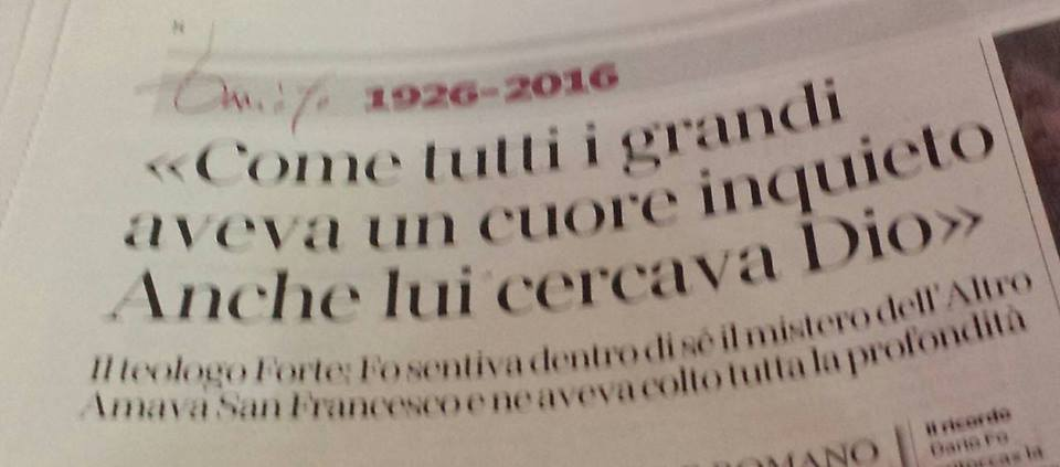 Printscreen fra Corriere della Sera - 14. oktober 2016